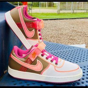 Nike Air Force 1's 'white clear pink/peach 8W